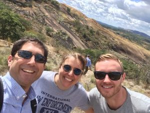 SIT alumni Todd Moss, Michelle Gavin, and Alex Noyes in rural Zimbabwe