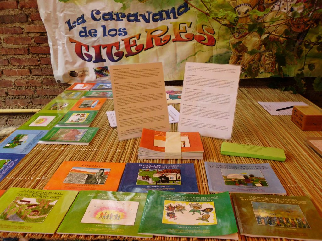 Display of several children's books