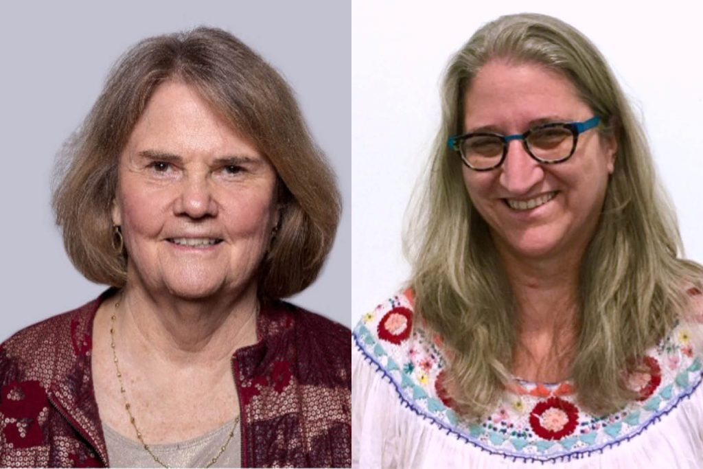 Dr. Diane Larsen-Freeman and Dr. Mary Scholl in a composite image.